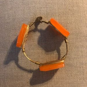 Bourbon and Bowties Jewelry - Bourbon and bow ties orange bracelet
